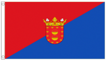 Spain Canary Islands Lanzarote 5'x3' (150cm x 90cm) Flag